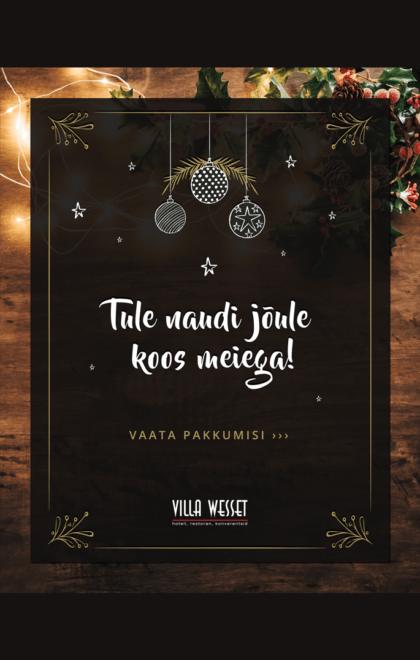 Jõulumenüü Pärnu-min